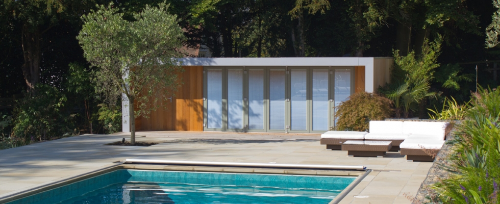 Garden Pool Terrace and Pool House By Philip Nash Design