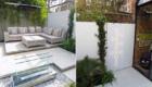 modern back garden