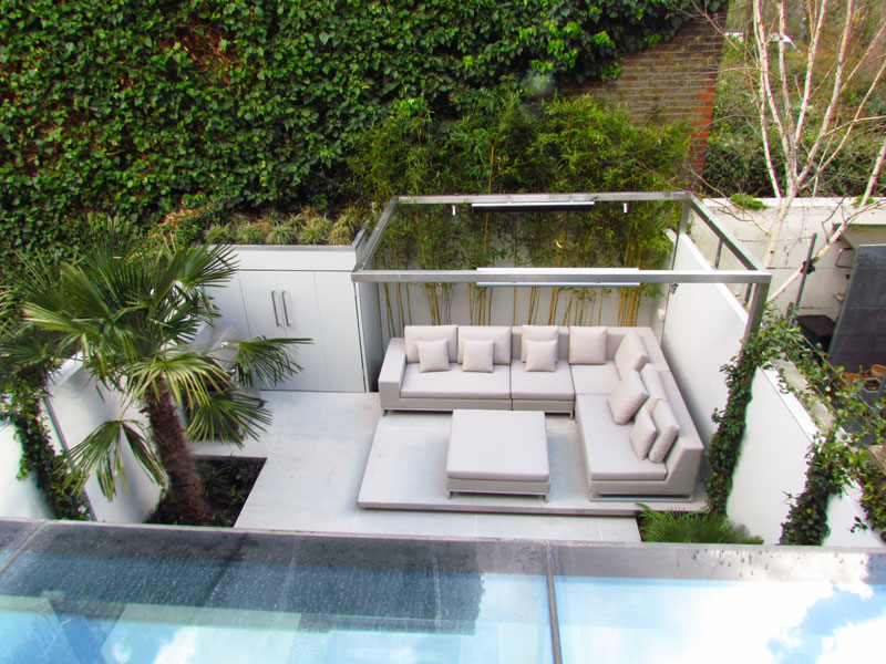 small contemporary back garden
