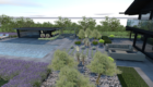 3d visual of a contemporary garden design