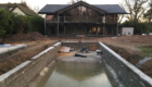 huf haus and pool under construction
